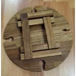 Винный столик из дерева на 4 бокала складной