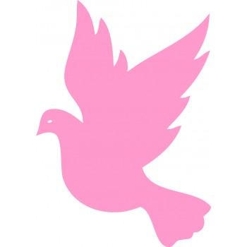 Объемный голубь из пенопласта
