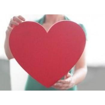 Объемное сердце для свадебных фотосессий из пенопласта 50мм